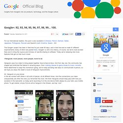 Google+: 92, 93, 94, 95, 96, 97, 98, 99... 100. (Build 20110920042010)