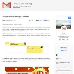 Google+ Events in Google Calendar