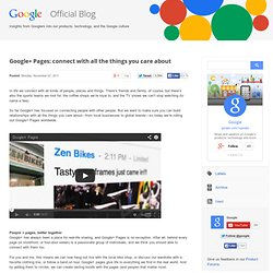 Google+ Pages: connect with all the things you care about