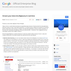 Stream your data into BigQuery in real-time