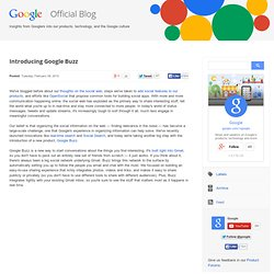 Introducing Google Buzz
