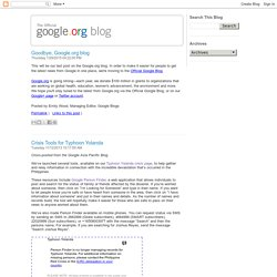 Official google.org Blog