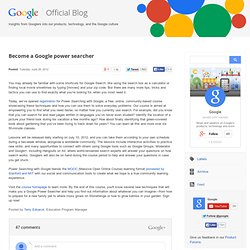 Become a Google power searcher