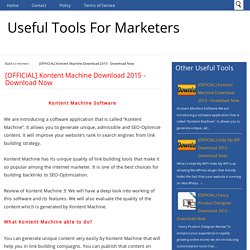 Create content in your website with Kontent Machine