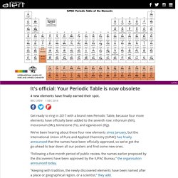 It's official: Your Periodic Table is now obsolete