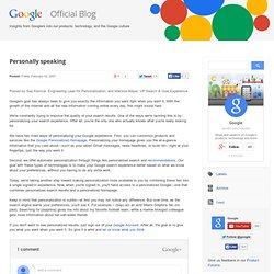 Official Google Blog: Personally speaking