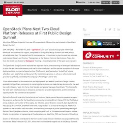 OpenStack Plans Next Two Cloud Platform Releases at First Public Design Summit | Rackspace Newsroom