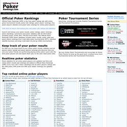 Official Poker Rankings - Poker Ratings, Poker Results and Stati