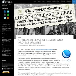 Official Release of LuneOS and Project Updates