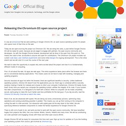 Releasing the Chromium OS open source project