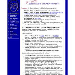 The Official Robert's Rules of Order Web Site