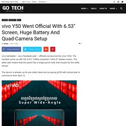 Vivo launched its New Smartphone Y50