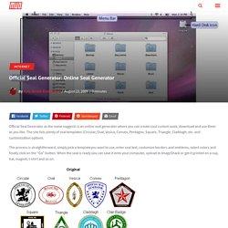 Official Seal Generator: Online Seal Generator
