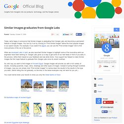 Similar Images graduates from Google Labs