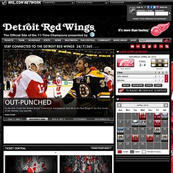 The Official Web Site - Detroit Red Wings
