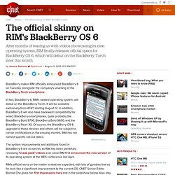 The official skinny on RIM's BlackBerry OS 6