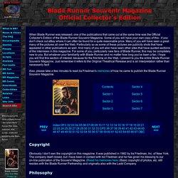 BRmovie.com: Official Blade Runner Souvenir Magazine