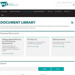 Official PCI Security Standards Council Site - Verify PCI Compliance, Download Data Security and Credit Card Security Standards