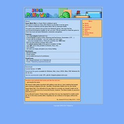 The Official Super Mario War Website