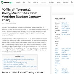 *Official* Torrentz2 Proxy/Mirror Sites 100% Working [Update January 2020]