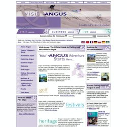 Visit Angus: The Official Guide to Visiting and Vacations in Angus