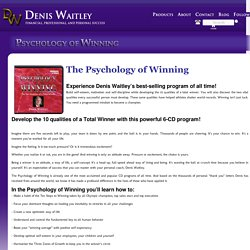 The Official Site for Denis Waitley » Psychology Of Winning