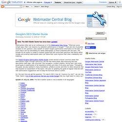 Google's SEO Starter Guide