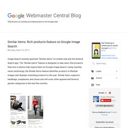 Official Google Webmaster Central Blog: Similar items: Rich products feature on Google Image Search
