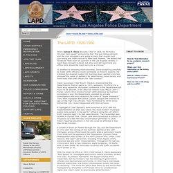 The LAPD: 1926-1950