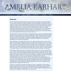 The Official Website of Amelia Earhart