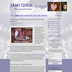 Official Website of Jami Gold, Paranormal Author