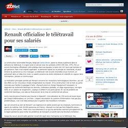 Renault officialise le télétravail pour ses salariés