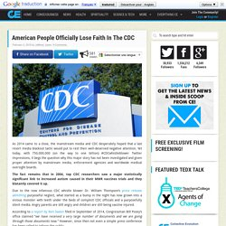 American People Officially Lose Faith In The CDC