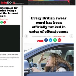 Every British swear word has been officially ranked in order of offensiveness...