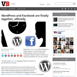 Wordpress and Facebook are finally together, officially
