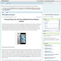 Fixing Shops for All Your Mobile Phone Repair Needs