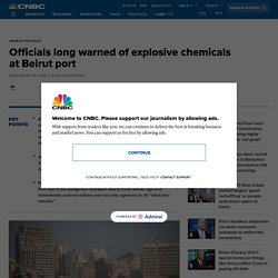 Officials long warned of explosive chemicals at Beirut port