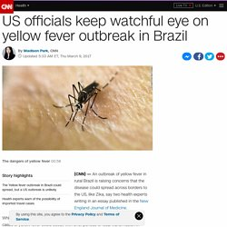 US officials monitor yellow fever outbreak in Brazil