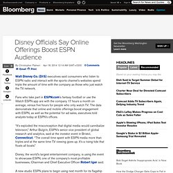Disney Officials Say Online Offerings Boost ESPN Audience