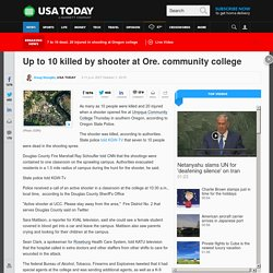 Officials: Active shooter at Oregon community college