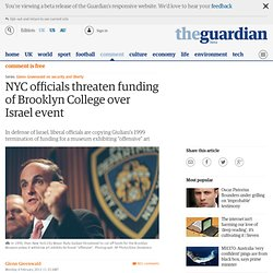 NYC officials threaten funding of Brooklyn College over Israel event