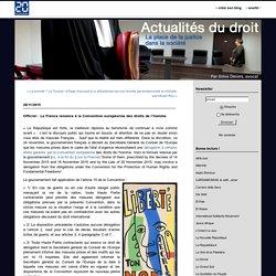Officiel : La France renonce à la Convention européenne des droits de l'homme