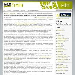 Au Journal officiel du 23 octobre 2014 : non-paiement des pensions alimentaires
