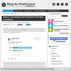 Officiel : les sondages Twitter déployés pour tous les comptes