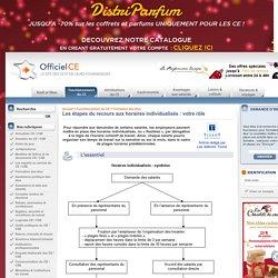 Dossiers OfficielCE : Les étapes du recours aux horaires individualisés : votre rôle