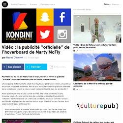 """la publicité """"officielle"""" de l'hoverboard de Marty McFly"""