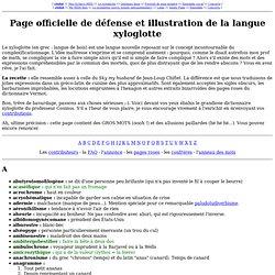 Page officielle de défense et illustration de la langue xyloglot