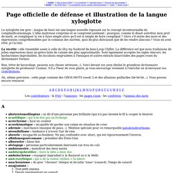 Page officielle de défense et illustration de la langue xyloglotte
