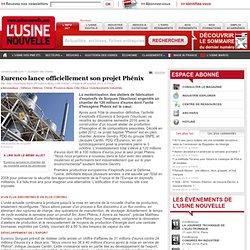 Eurenco lance officiellement son projet Phénix - Aéronautique - Défense