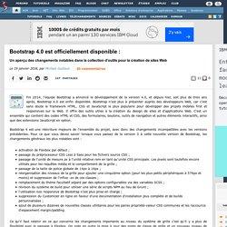 Bootstrap 4.0 est officiellement disponible : un aperçu des changements notables dans la collection d'outils pour la création de sites Web